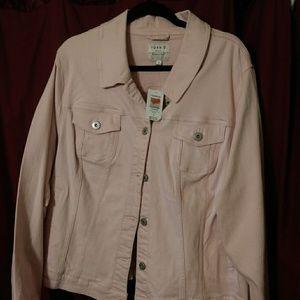 Torrid plus pink denim jacket